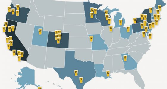 Top 50 Craft Breweries Map