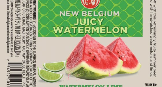 New Belgium Juicy Watermelon Bottle Label