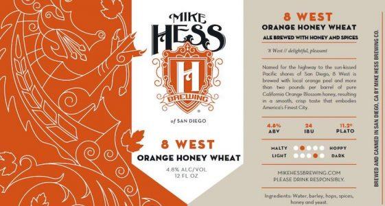 Mike Hess 8 West Orange Honey Wheat