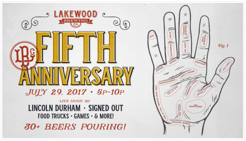 Lakewood Brewing 5th Anniversary
