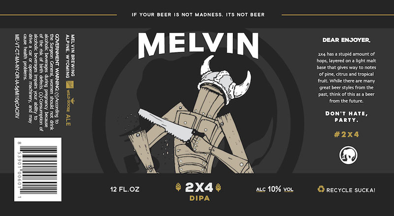 Melvin 2x4 Can Label
