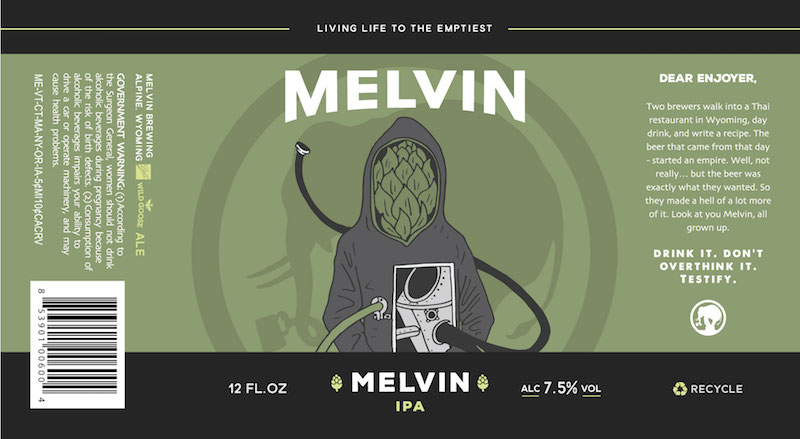 Melvin IPA Can Label