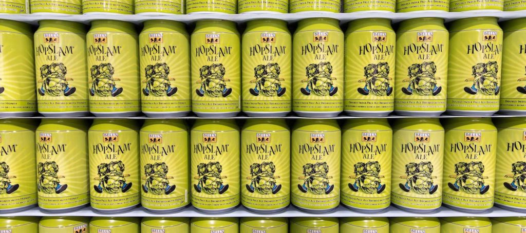 Bells HopSlam Can Wall