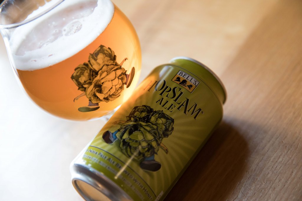 Bells Hopslam Can and Snifter