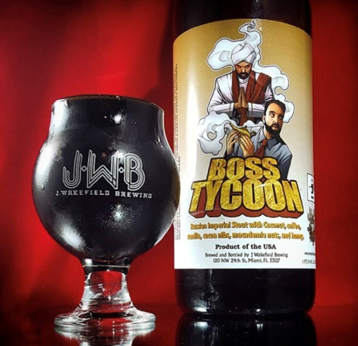 Boss tycoon with glass
