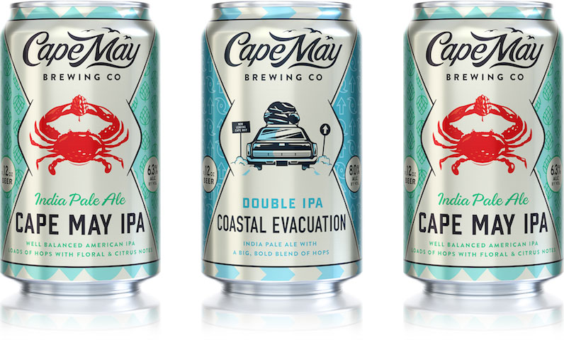 cape may brewing cans cape may ipa coastal evacuation double ipa