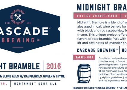 Cascade Brewing - Midnight Bramble (Label)