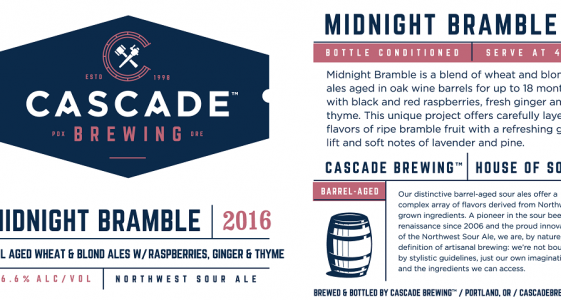 Cascade Brewing - Midnight Bramble (Label)