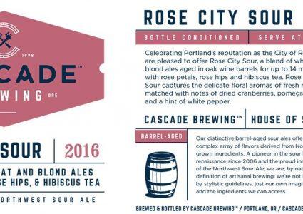 Cascade Brewing - Rose City Sour (Label)