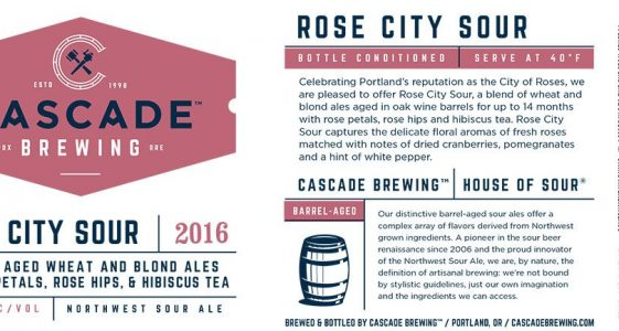 Cascade Brewing - Rose City Sour (Label)