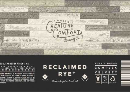 Creature Comforts Reclaimed Rye