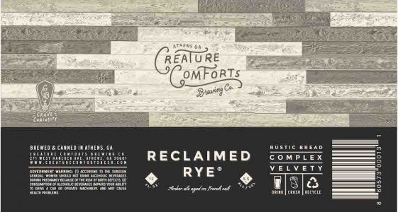 Creature Comforts Reclaimed Rye