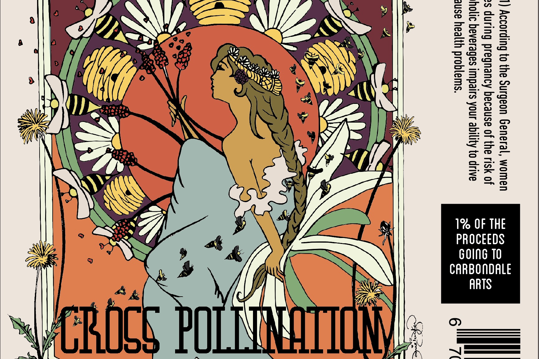 Cross-Pollination Collaboration Beer Label
