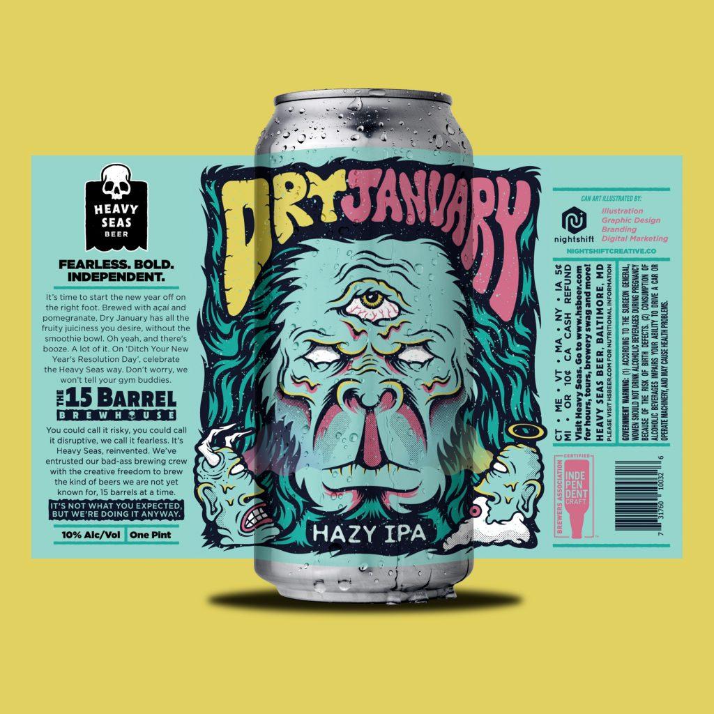 Heavy Seas Beer - Dry January Hazy IPA
