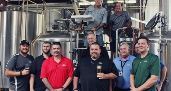 Due South Veterans on brew deck