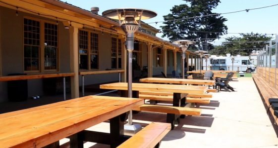 Dust Bowl Monterey Tap Depot - Back Patio Picnic Tables