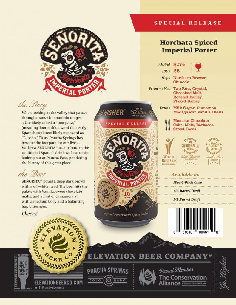 Elevation Beer Co - Señorita Imperial Porter