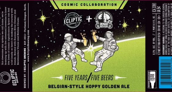 Ecliptic Brewing + Russian River Belgian-Style Hoppy Golden Ale