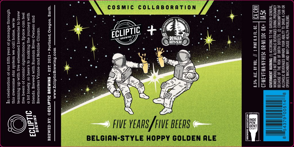 Ecliptic Brewing + Russian River Belgian-Style Hoppy Golden Ale