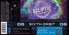 Ecliptic Brewing - Sixth Orbit - Hazy Plum IPA