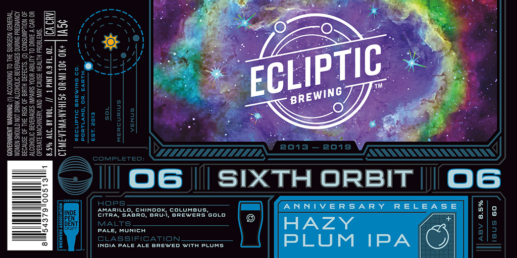 Ecliptic Brewing - Sixth Orbit - Hazy Plum IPA