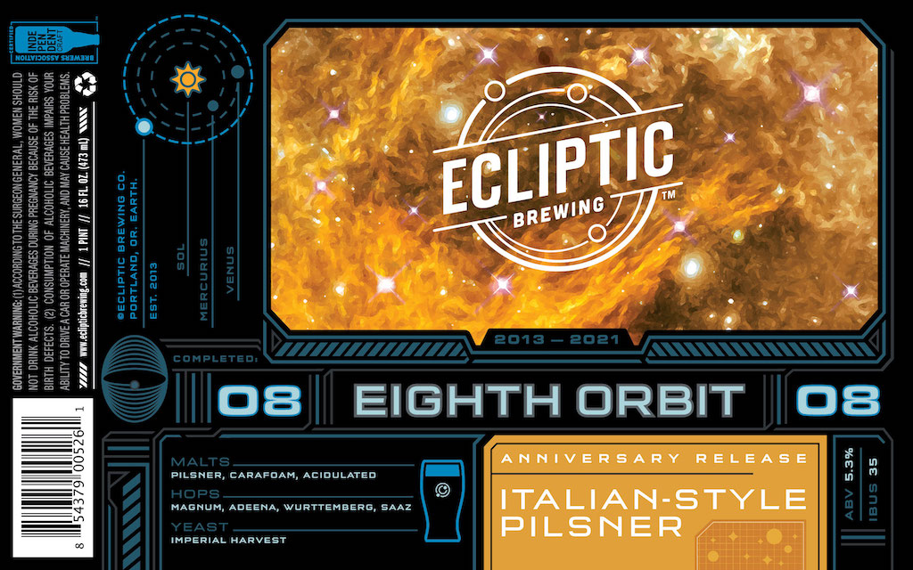 Ecliptic Brewing Celebrates 8th Anniversary with Eighth Orbit Italian Pilsner thumbnail