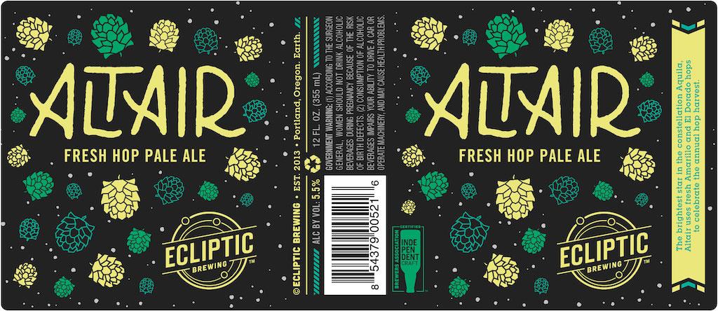 Ecliptic Brewing Announces Release of Altair Fresh Hop Pale