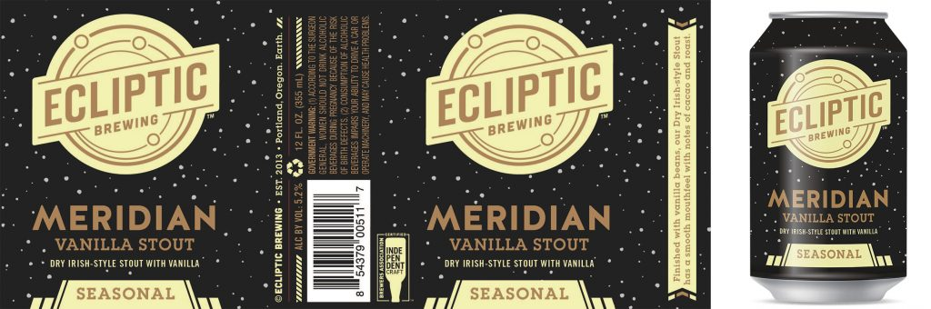 Ecliptic Brewing - Meridian Vanilla Stout (can)