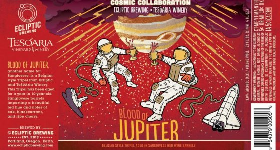 Ecliptic Brewing + TeSoAria Winery - Blood of Jupiter