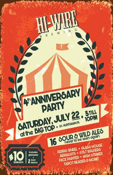 Hi-Wire Brewing - 4th Anniversary