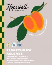 Hopewell Brewing - 3rd Anniversary Stonethrow Release