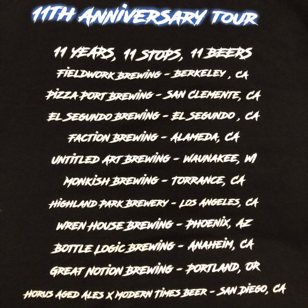 11th Anniversary Tour Tee (back)