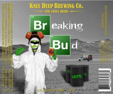 Knee Deep Brewing Breaking Bud Label
