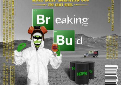 Knee Deep Brewing Breaking Bud Label