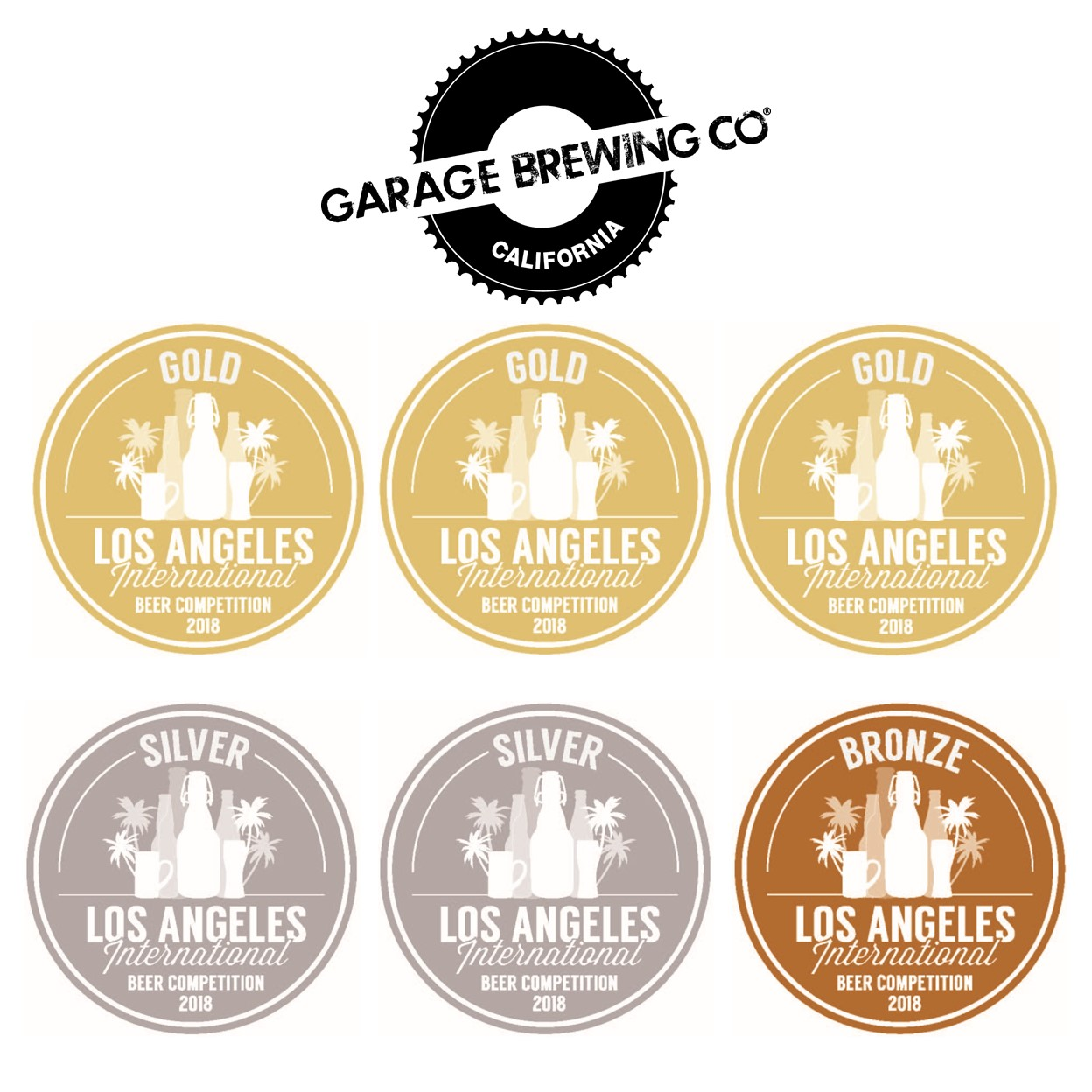 Garage Brewing LA Beer Medals