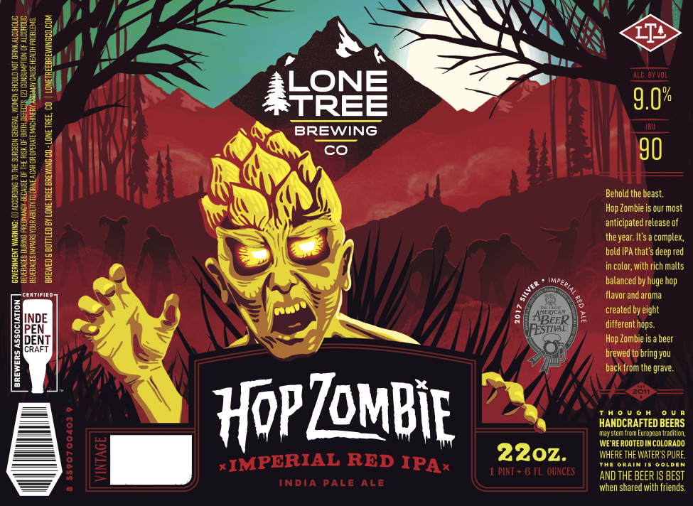 Lone Tree Hop Zombie Label 2018
