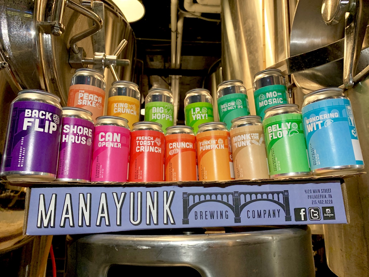 Manayunk Brewing 2019 Cans