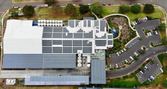 Maui Brewing Solar Rooftop Flyover
