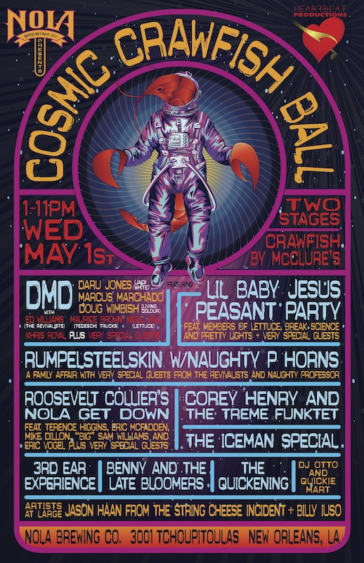 NOLA Brewery Cosmic Crawfish Ball Poster