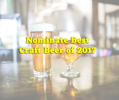 Nominate Best Craft Beer of 2017