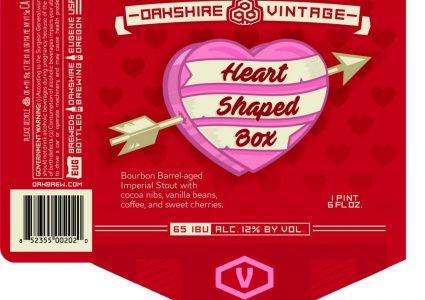 Oakshire Heart Shaped Box Vintage