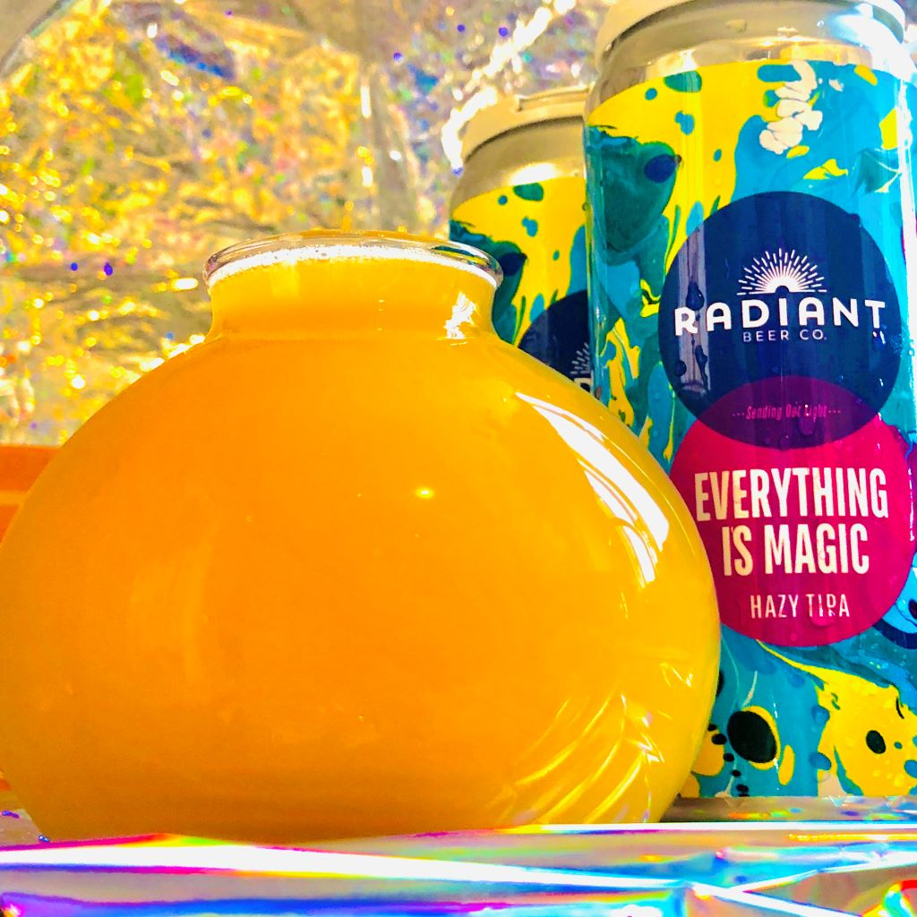 Radiant Beer Co. – Everything Is Magic Hazy TIPA Can Release 7-14-21 thumbnail