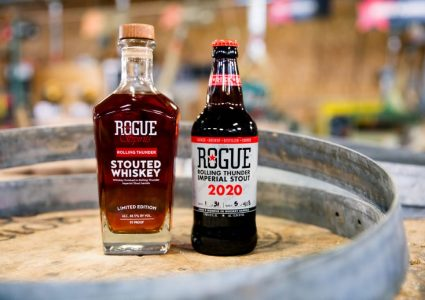 Rogue Rolling Thunder Stout and Whiskey