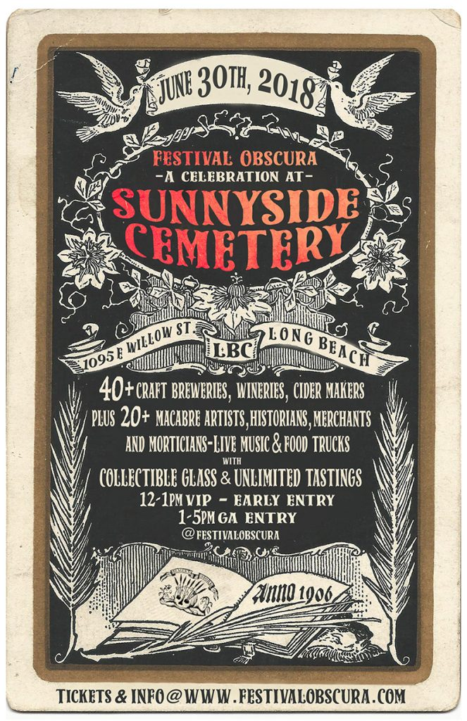 Festival Obscura - A Celebration at Sunnyside Cemetery