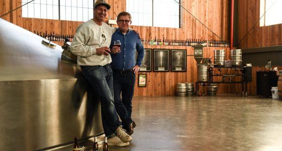 Sam Calagione & Rudi Ghequire at Brouwerij Rodenbach