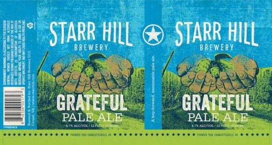 Starr Hill Grateful Pale Ale 2017