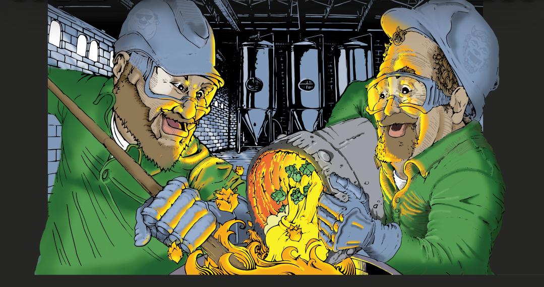 Steel and Coal IPA Cartoon