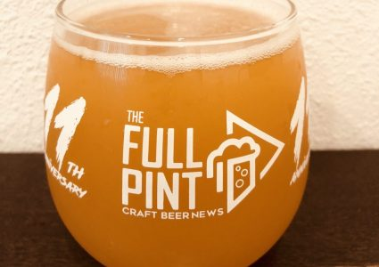 The Full Pint 11th Anniversary Glass