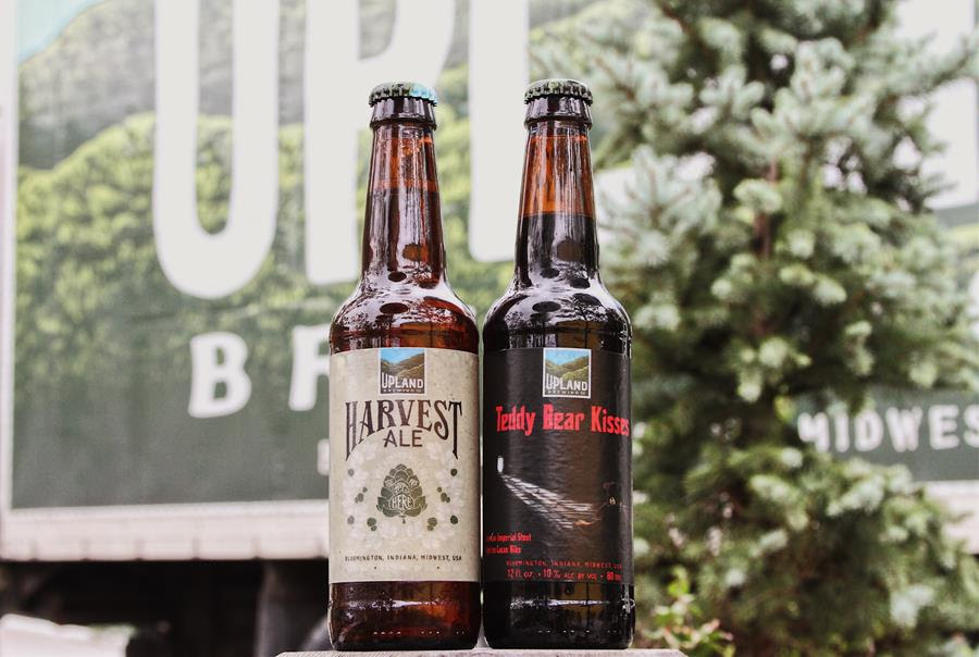 Upland Brewing Harvest Ale and Teddy Bear Kisses