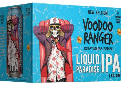 Voodoo Ranger Liquid Paradise IPA 12 oz can 6 pack angle